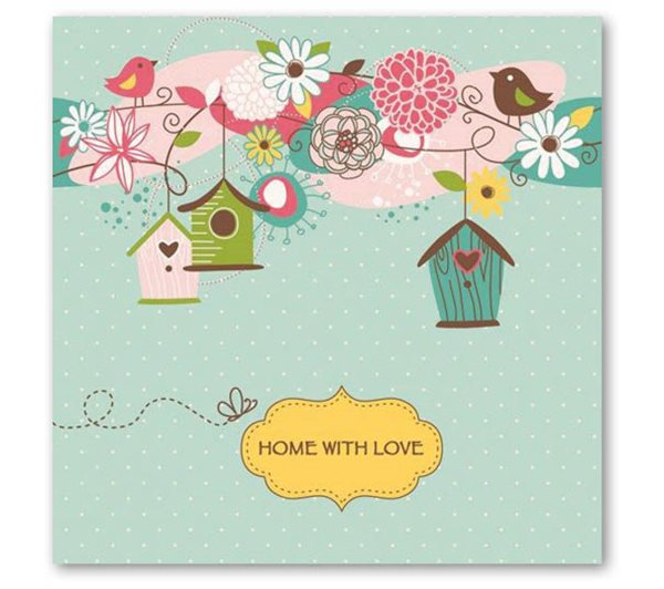 """Stil Ubrousky 33 x 33 dekorativní - """"Home with love"""""""