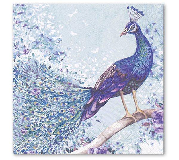 Stil Ubrousky 33 x 33 dekorativní - Páv