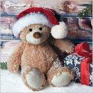Stil Ubrousky 33 x 33 Vánoce - Plyšový medvídek s dárkem