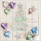 Stil Ubrousky 33 x 33 Vánoce - Vánoční pastelové ozdoby