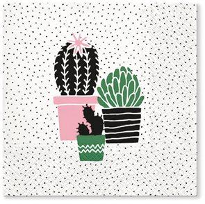 Stil Ubrousky 33 x 33 dekorativní - Kaktusy