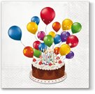 Stil Ubrousky 33 x 33 dekorativní - Dort s balónky