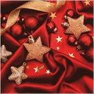 Stil Ubrousky 33 x 33 Vánoce - Červené ozdoby