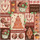 Stil Ubrousky 33 x 33 Vánoce - Sladkosti