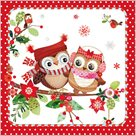 Stil Ubrousky 33 x 33 Vánoce - 2 sovy na stromě
