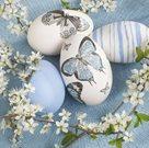 Stil Ubrousky 33 x 33 Velikonoce - vajíčka s motýlky