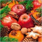 Stil Ubrousky 33 x 33 Vánoce - vánoční ovoce