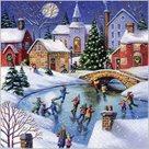 Stil Ubrousky 33 x 33 Vánoce - zimní vesnice