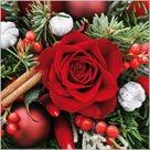 Stil Ubrousky 33 x 33 Vánoce - červená růže