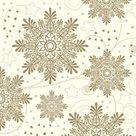 Stil Ubrousky 33 x 33 Vánoce - sněhové vločky zlaté