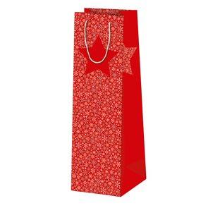 Vánoční dárková taška 10,5 × 36 × 10 cm - Sněhové vločky