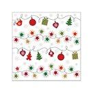 Vánoční ubrousky 25 x 25 cm, 20 ks - Vánoční symboly