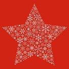 Vánoční ubrousky 33 x 33 cm, 20 ks - Ledová hvězda červená