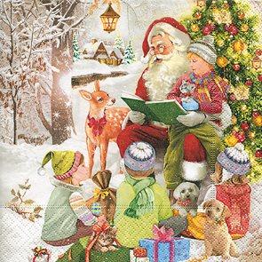 Vánoční ubrousky 33 x 33 cm, 20 ks - Vánoční čtení