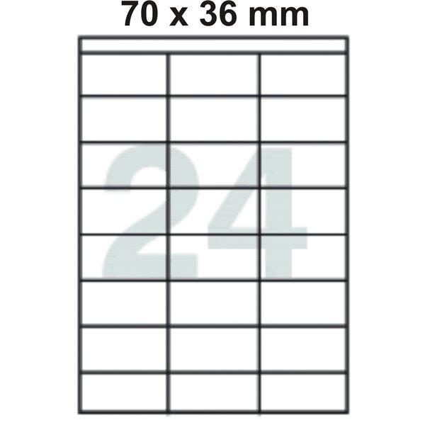 Samolepící etikety A4 70x36 mm 100ks