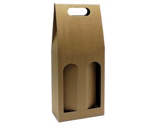 Odnosná krabice na víno VINKY 2 - hnědá
