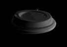 Plastové víčko 80 mm COFFEE TO GO, 100 ks - černé