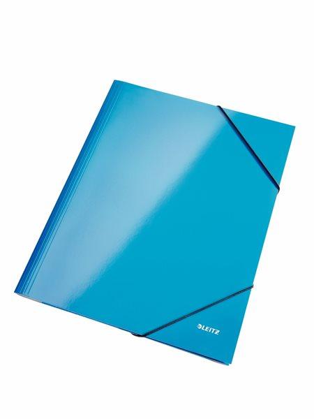 Leitz Spisové desky WOW s gumou - modré