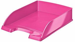 Leitz WOW Kancelářský odkladač - metalická růžová