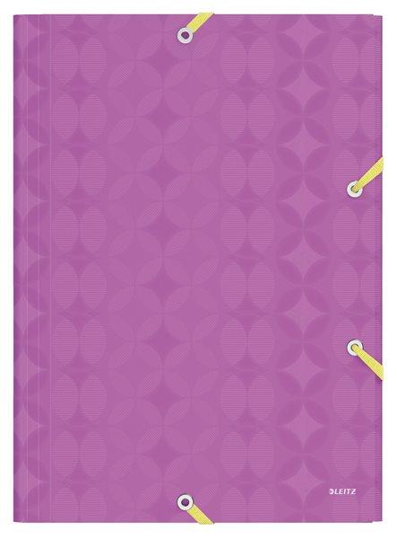 Leitz RETRO CHIC desky na spisy PP A4 - fialová