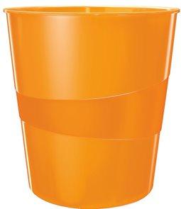 Leitz Odpadkový koš WOW - metalická oranžová