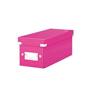 Leitz Click & Store Krabice na CD - metalická růžová
