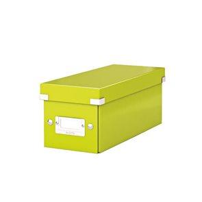 Leitz Click & Store Krabice na CD - metalická zelená