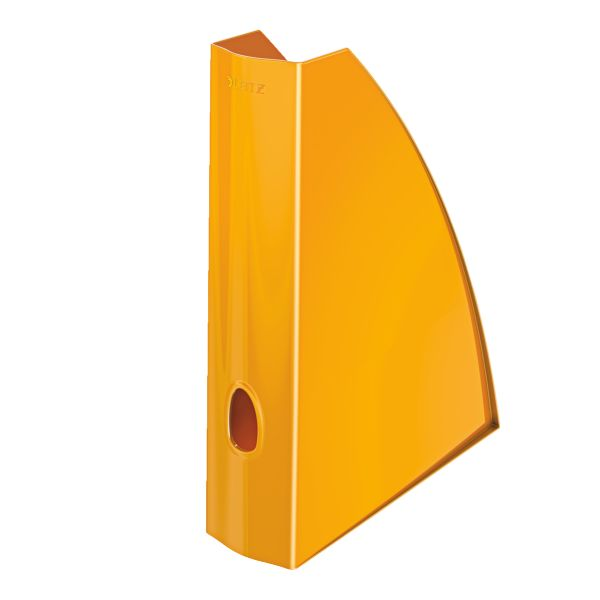 Leitz WOW Stojan na časopisy- metalická oranžová