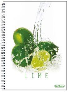 Herlitz Fresh Fruit Spirálový blok A4 linkovaný - Limetky
