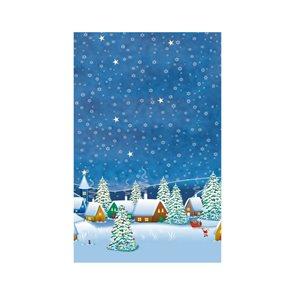 Ubrus papírový vánoční 80 x 80 cm - Hvězdy a stromy