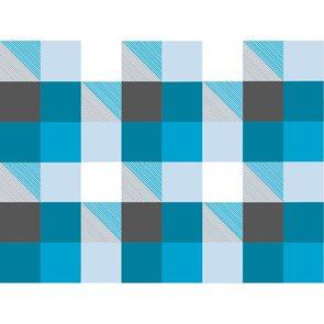 Dárkový papír 2 m x 70 cm - Modré čtverce
