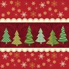 Vánoční ubrousky 33 x 33 cm, 20 ks - Vánoční stromky s hvězdami