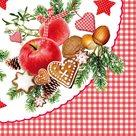 Vánoční ubrousky 33 x 33 cm, 20 ks - Vánoční jablíčko