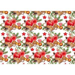 Balící papír 2m x 70cm - Vánoční jablíčka