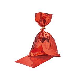 Dárkové sáčky 16 × 24,3 cm, 10 ks - neprůhledné - červené