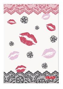 Herlitz Ladylike Záznamní kniha A5 96listů čtvereček - Kiss