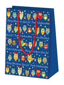 Dárková taška 16 x 22 x 8 cm  - Sovičky