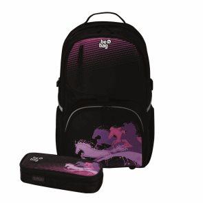 Školní batoh be. bag cube - Kůň power + pouzdro