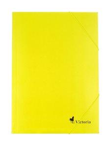 Victoria Spisové desky s gumou A4 karton - žluté