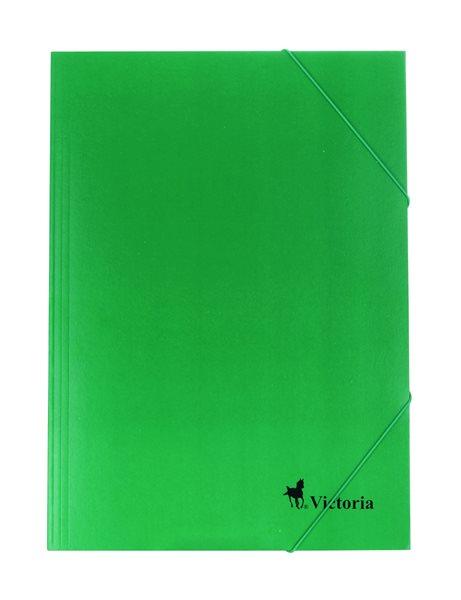 Victoria Spisové desky s gumou A4 lepenka - zelené