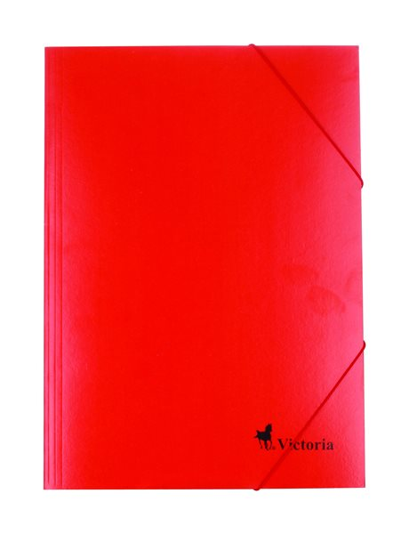 Victoria Spisové desky s gumou A4 karton - červené