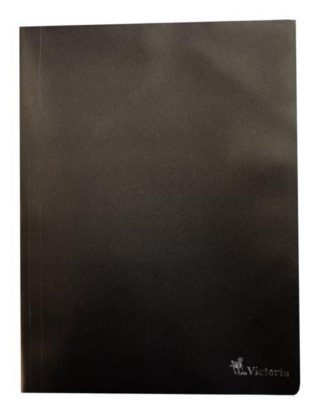 Victoria Desky s gumou PP 3 klopy A4 - černé