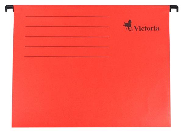 Victoria Závěsné zakládací desky A4 - červené
