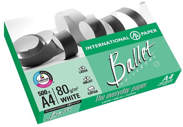 Kancelářský papír BALLET Universal 80g A4 - 500 listů, Sleva 15%