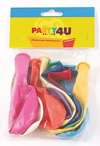 Balónky perleťové 26 cm - mix barev