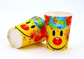 Pohárek plastový Smiley 2dl - sada 6 ks