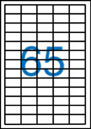 Samolepící etikety A4 38x21,2 mm 100ks