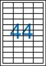 Samolepicí etikety A4 100 ks - 48,5 x25,4 mm
