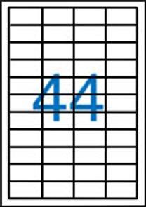 Samolepící etikety A4 48,5 x25,4 mm 100ks