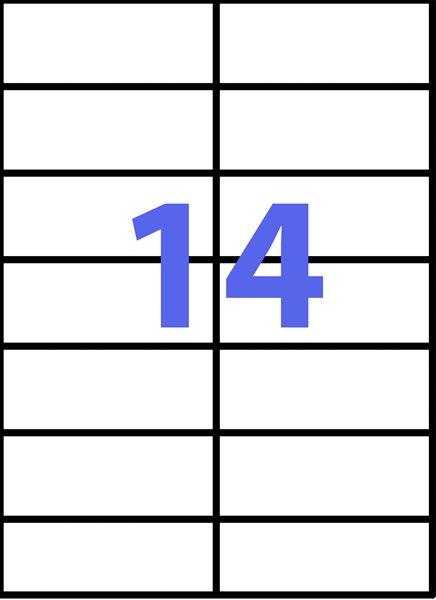 Samolepící etikety A4 105x42,4 mm 100ks